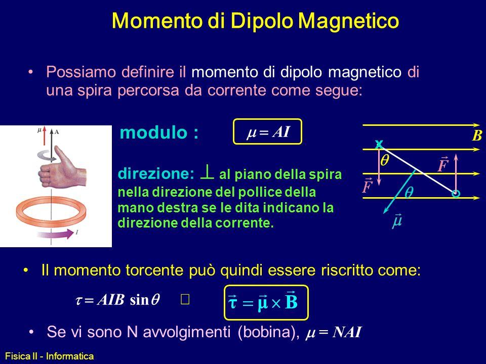 Fisica II - Informatica Applicazioni: strumenti ad indice