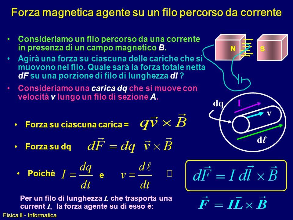 Fisica II - Informatica Forza Magnetica su un conduttore
