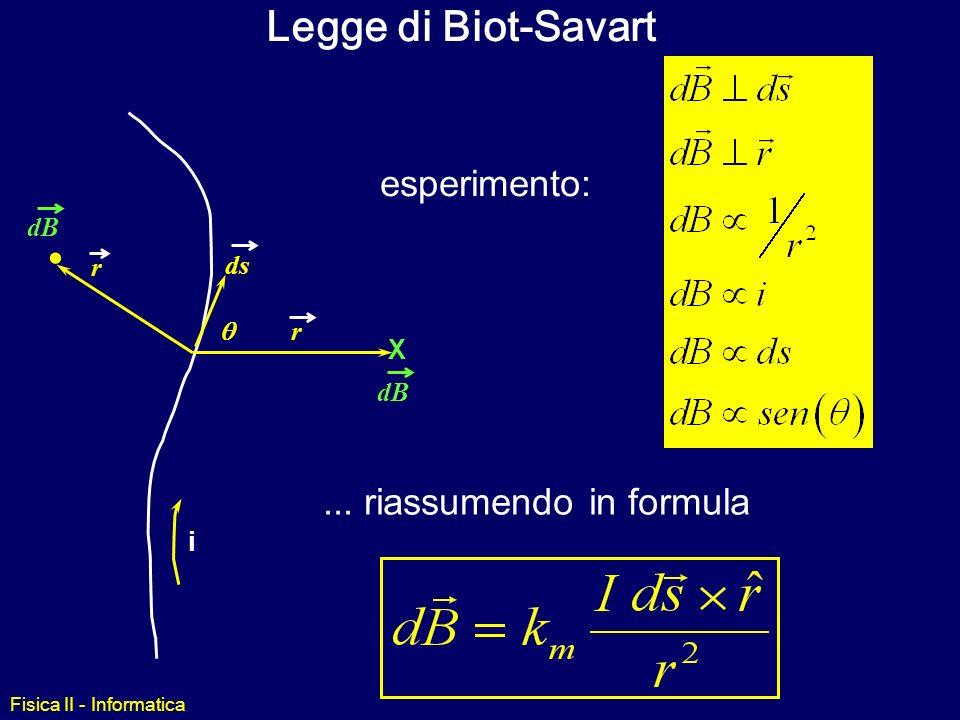 Fisica II - Informatica Calcolo del Campo Magnetico due metodi di calcolo forza bruta