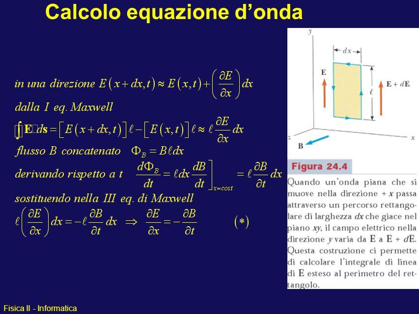 Fisica II - Informatica Calcolo equazione donda