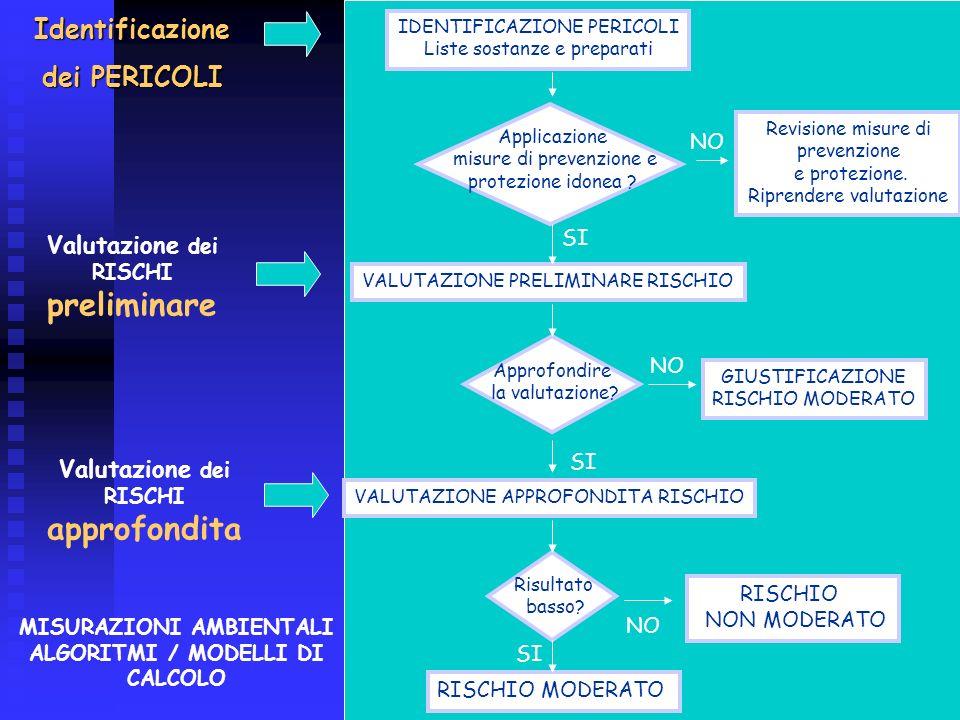 4 IDENTIFICAZIONE PERICOLI Liste sostanze e preparati Applicazione misure di prevenzione e protezione idonea ? Revisione misure di prevenzione e prote