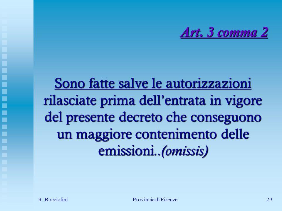 R. BoccioliniProvincia di Firenze29 Art.