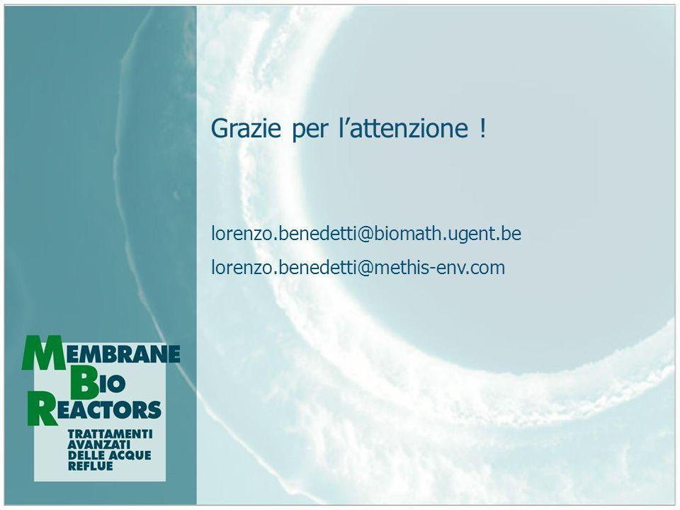 Grazie per lattenzione ! lorenzo.benedetti@biomath.ugent.be lorenzo.benedetti@methis-env.com