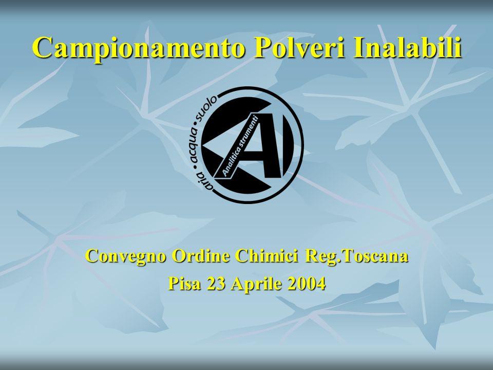 Campionamento Polveri Inalabili Convegno Ordine Chimici Reg.Toscana Pisa 23 Aprile 2004