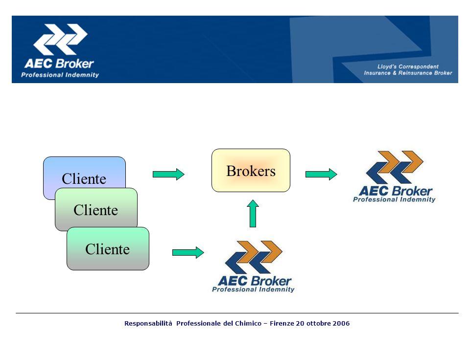 Brokers Cliente Responsabilità Professionale del Chimico – Firenze 20 ottobre 2006