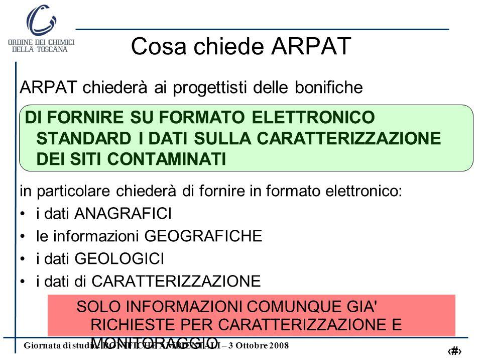 Giornata di studio: BONIFICHE AMBIENTALI – 3 Ottobre 2008 17 particelle catastali - perimetrazione si richiede l elenco delle particelle catastali comprese nel perimetro della proprietà del sito.