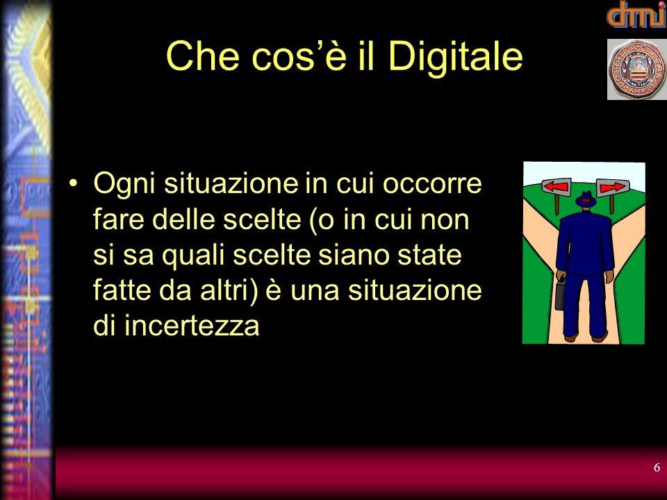 56 Digitalizzare informazione multimediale E i suoni.