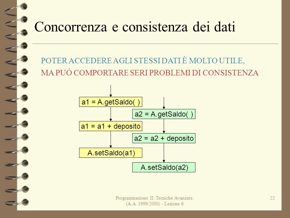 Programmazione II: Tecniche Avanzate.(A.A.