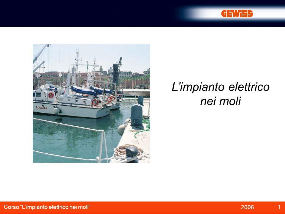 2 2006 Corso Limpianto elettrico nei moli Non esiste ad oggi una norma nazionale sullargomento Un utile indicazione è data dalla norma internazionale IEC 60364-7-709 CAMPO DI APPLICAZIONE