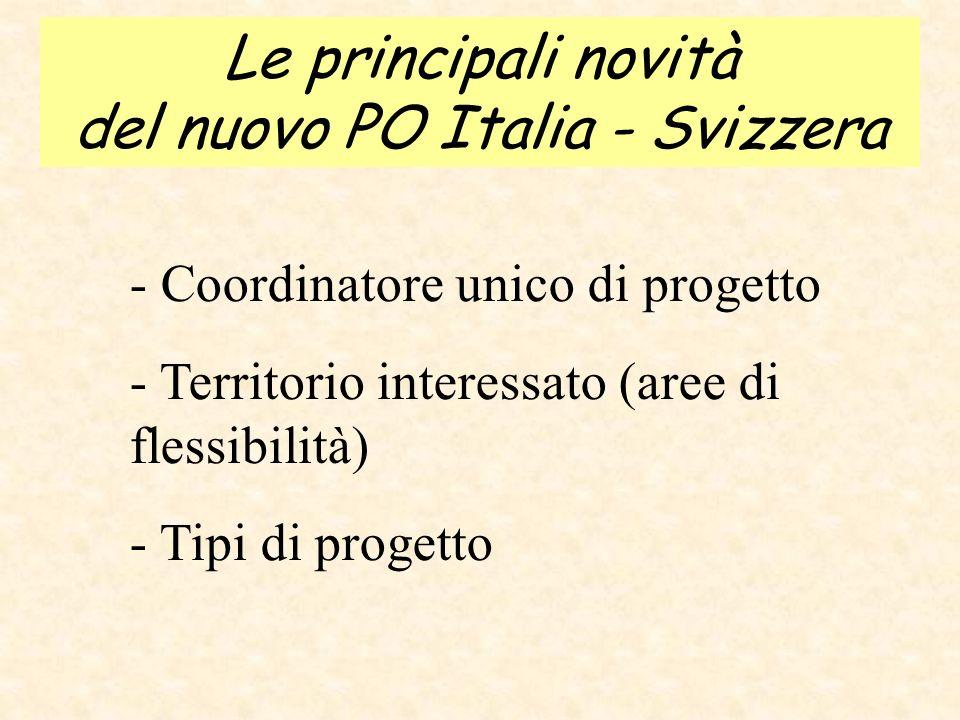 Transfrontaliero Italia-Svizzera 2007-2013 Aree di flessibilità
