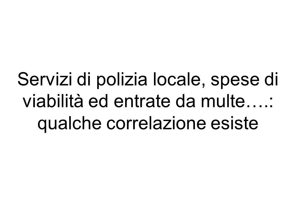 Servizi di polizia locale, spese di viabilità ed entrate da multe….: qualche correlazione esiste
