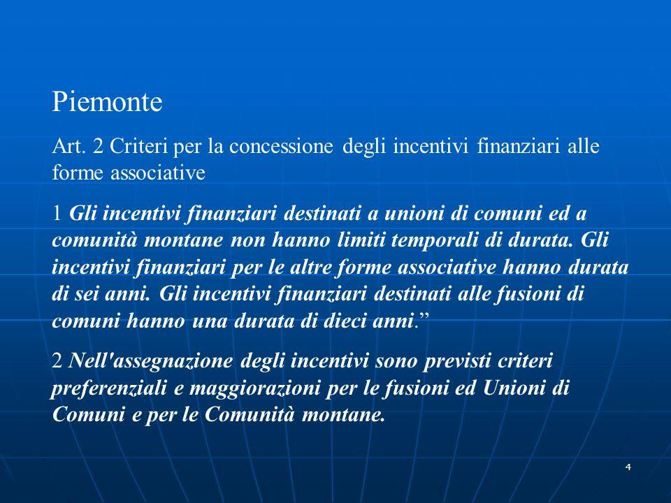 5 Emilia Art.30 Criteri per la concessione degli incentivi alle fusioni.