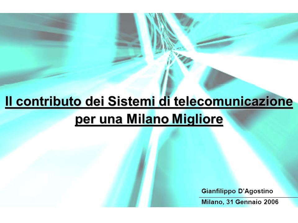 Il contributo dei Sistemi di telecomunicazione per una Milano Migliore Milano, 31 Gennaio 2006 Gianfilippo DAgostino