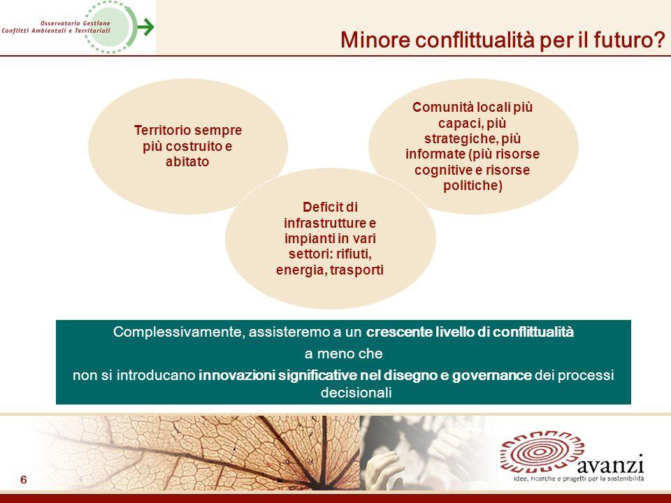 6 Minore conflittualità per il futuro.