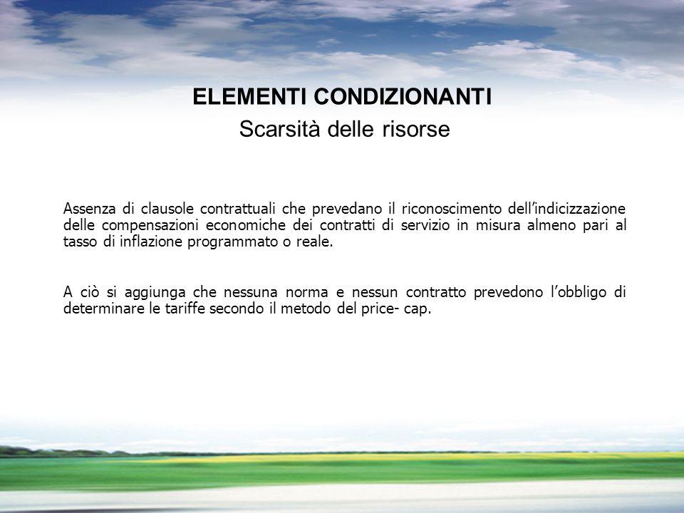 PROFILO DEL GRUPPO GRUPPO FNM LA LIBERALIZZAZIONE DEL TRASPORTO PUBBLICO LOCALE ELEMENTI CONDIZIONANTI Assenza di clausole contrattuali che prevedano