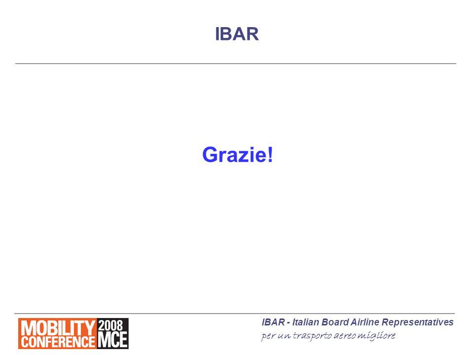 IBAR - Italian Board Airline Representatives per un trasporto aereo migliore IBAR Grazie!