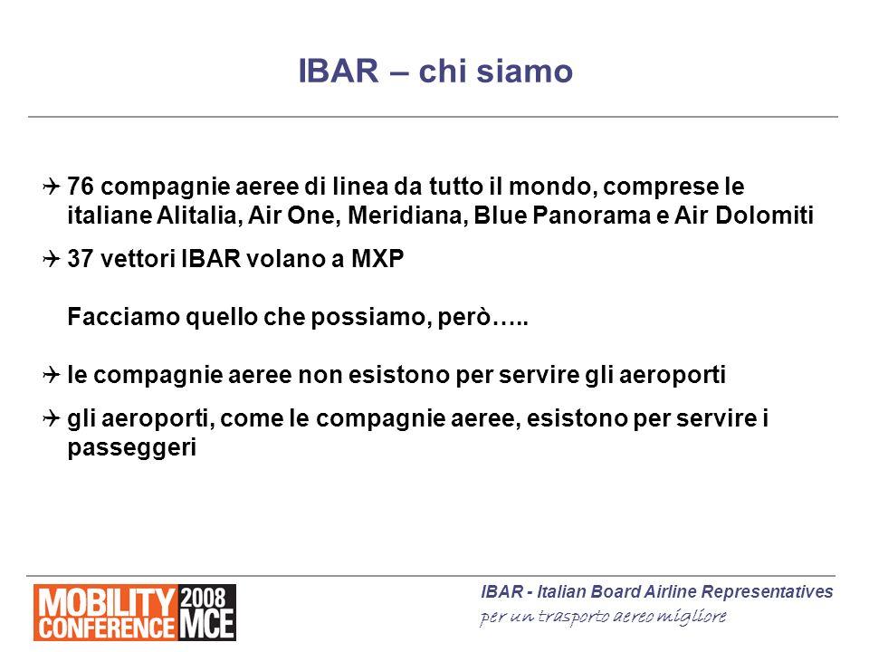 IBAR - Italian Board Airline Representatives per un trasporto aereo migliore IBAR – chi siamo 76 compagnie aeree di linea da tutto il mondo, comprese