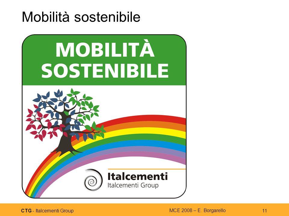 CTG - Italcementi Group MCE 2008 – E. Borgarello 11 Mobilità sostenibile