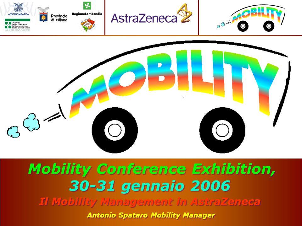 Il Mobility Management in AstraZeneca Antonio Spataro Mobility Manager Mobility Conference Exhibition, 30-31 gennaio 2006