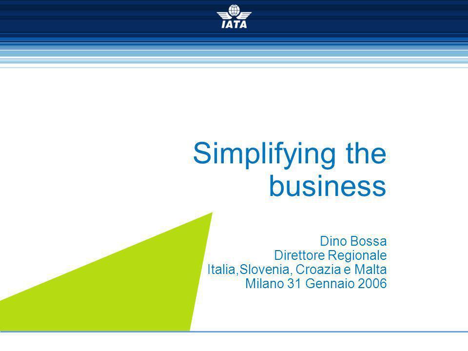 Simplifying the business Dino Bossa Direttore Regionale Italia,Slovenia, Croazia e Malta Milano 31 Gennaio 2006