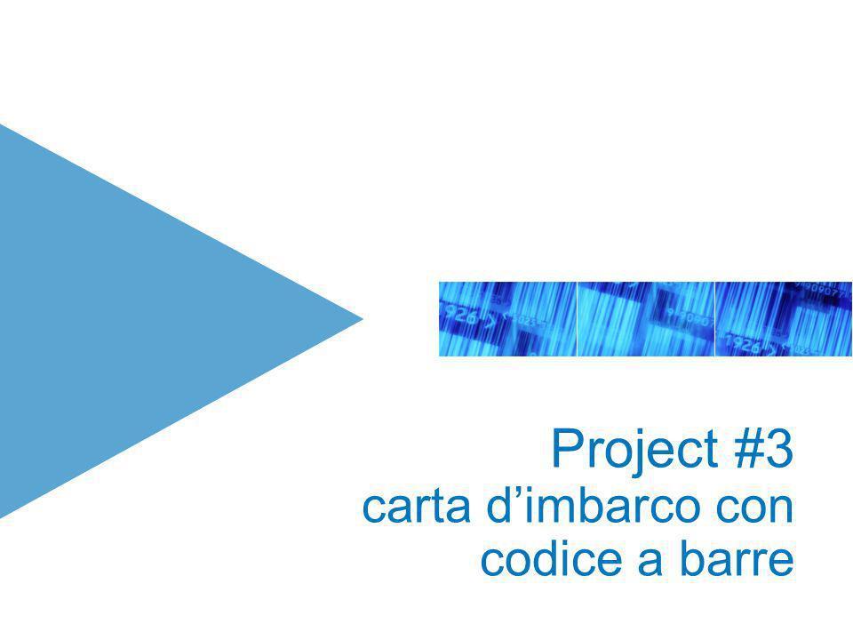 Project #3 carta dimbarco con codice a barre