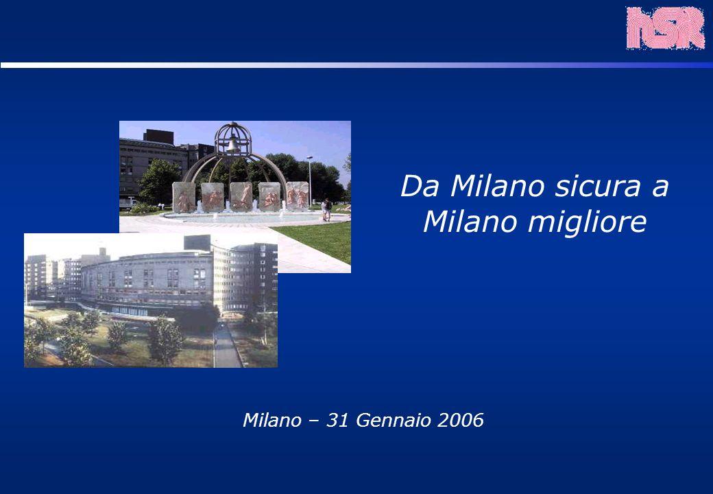 Milano – 31 Gennaio 2006 Da Milano sicura a Milano migliore