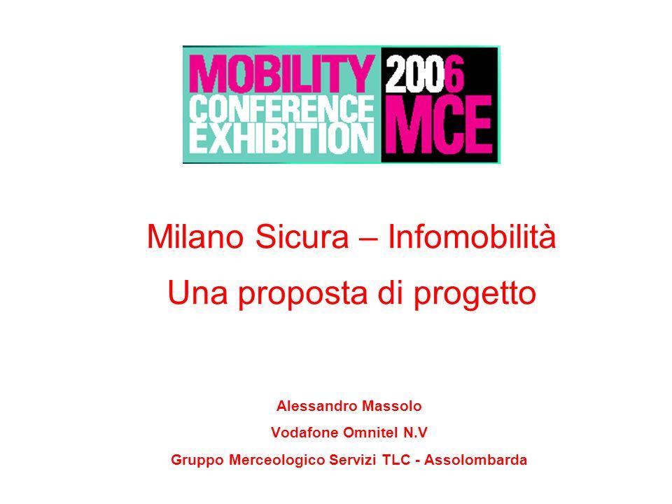 Pag. 1 Milano Sicura – Infomobilità Una proposta di progetto Alessandro Massolo Vodafone Omnitel N.V Gruppo Merceologico Servizi TLC - Assolombarda