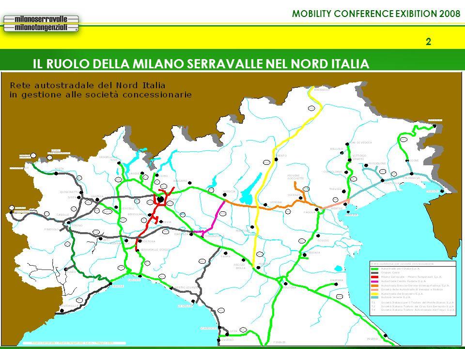 MOBILITY CONFERENCE EXIBITION 2008 3 Indice di dotazione infrastrutturale Le regioni del Nord Italia registrano la minore dotazione infrastrutturale in confronto alla relativa domanda potenziale di trasporto.