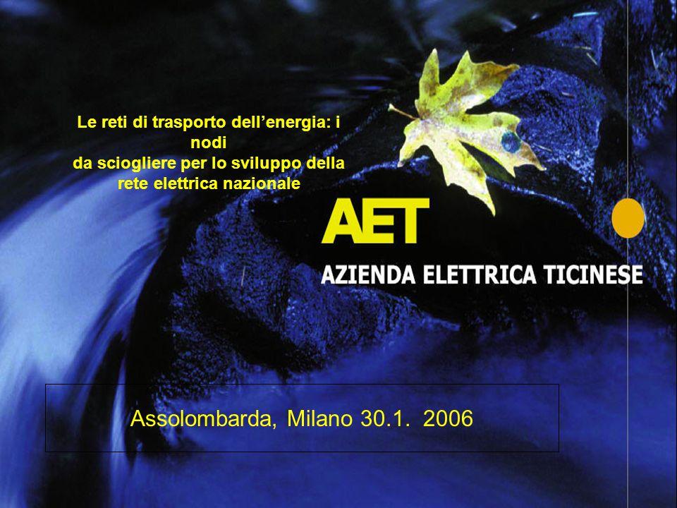 Le reti di trasporto dellenergia: i nodi da sciogliere per lo sviluppo della rete elettrica nazionale Assolombarda, Milano 30.1. 2006