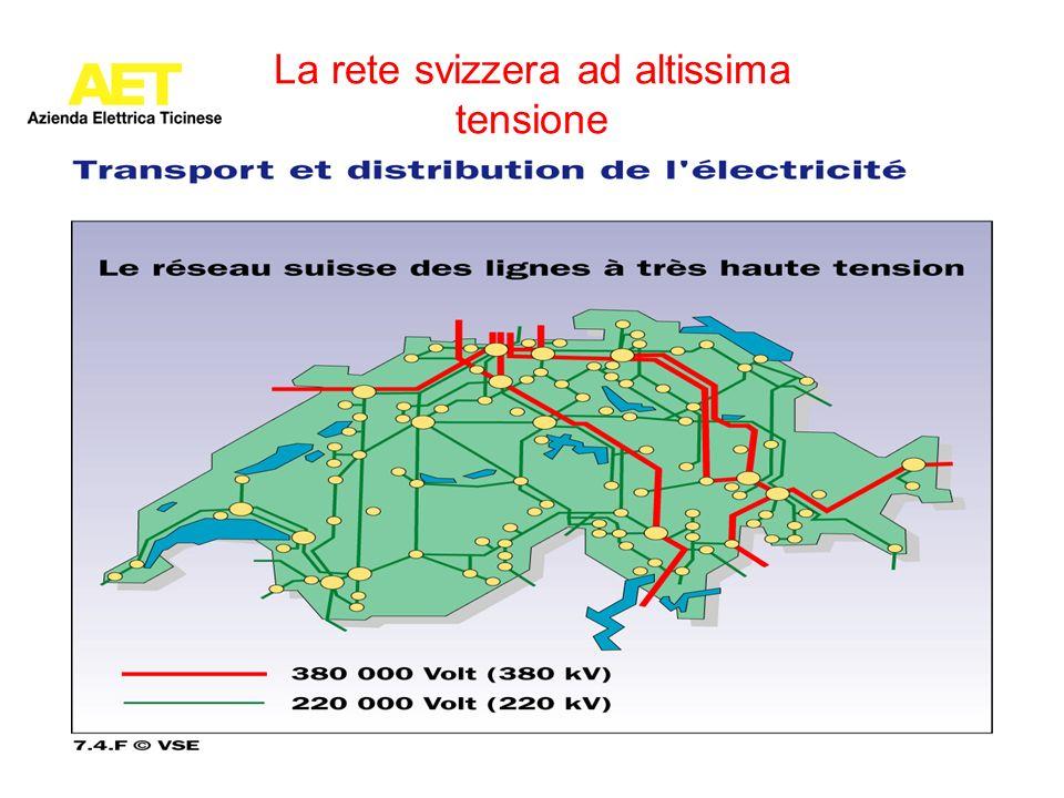 La rete svizzera ad altissima tensione