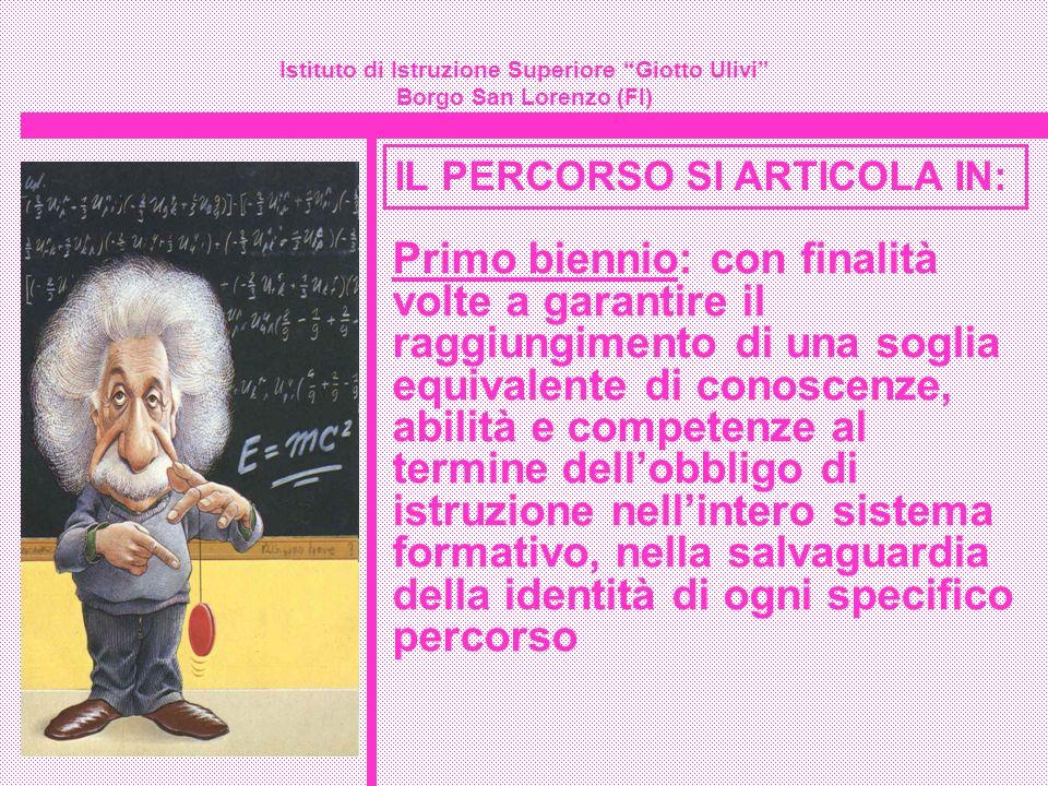 Istituto di Istruzione Superiore Giotto Ulivi Borgo San Lorenzo (FI) IL PERCORSO SI ARTICOLA IN: Primo biennio: con finalità volte a garantire il ragg