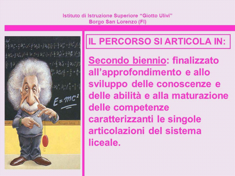 Istituto di Istruzione Superiore Giotto Ulivi Borgo San Lorenzo (FI) IL PERCORSO SI ARTICOLA IN: Secondo biennio: finalizzato allapprofondimento e all
