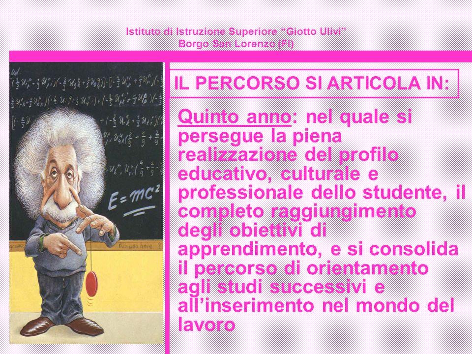 Istituto di Istruzione Superiore Giotto Ulivi Borgo San Lorenzo (FI) Quinto anno: nel quale si persegue la piena realizzazione del profilo educativo,