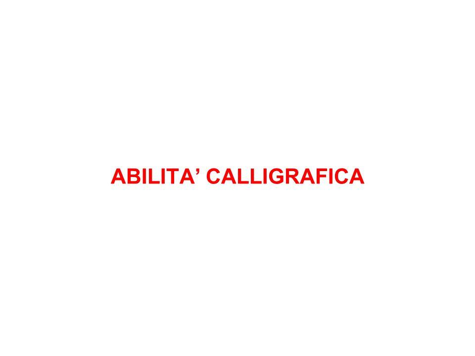 ABILITA CALLIGRAFICA