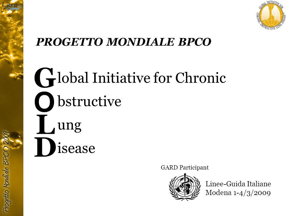 Questionario GOLD per lidentificazione precoce dei pazienti con BPCO Potrebbe trattarsi di BPCO.