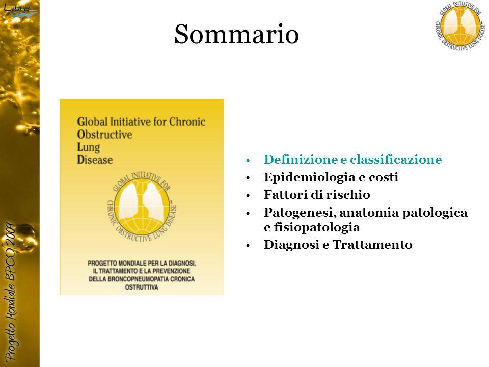 Le 4 fasi del trattamento della BPCO Valutazione e monitoraggio Riduzione dei fattori di rischio Trattamento della BPCO stabile: – educazionale – farmacologico – non farmacologico Trattamento delle riacutizzazioni e della insufficienza respiratoria