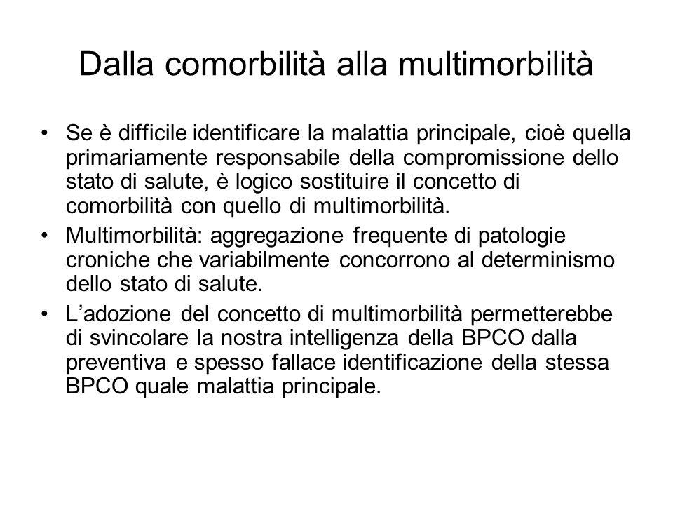 Dalla comorbilità alla multimorbilità Se è difficile identificare la malattia principale, cioè quella primariamente responsabile della compromissione