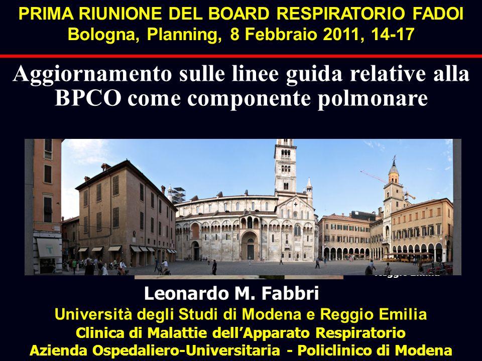 Leonardo M. Fabbri Università degli Studi di Modena e Reggio Emilia Clinica di Malattie dellApparato Respiratorio Azienda Ospedaliero-Universitaria -