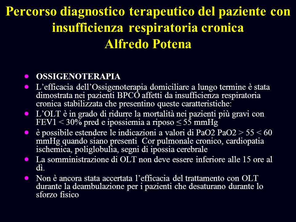Percorso diagnostico terapeutico del paziente con insufficienza respiratoria cronica Alfredo Potena OSSIGENOTERAPIA Lefficacia dellOssigenoterapia dom