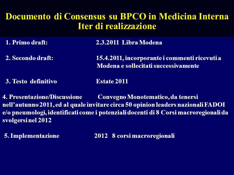 1. Primo draft:2.3.2011 Libra Modena 2. Secondo draft:15.4.2011, incorporante i commenti ricevuti a Modena e sollecitati successivamente 3. Testo defi