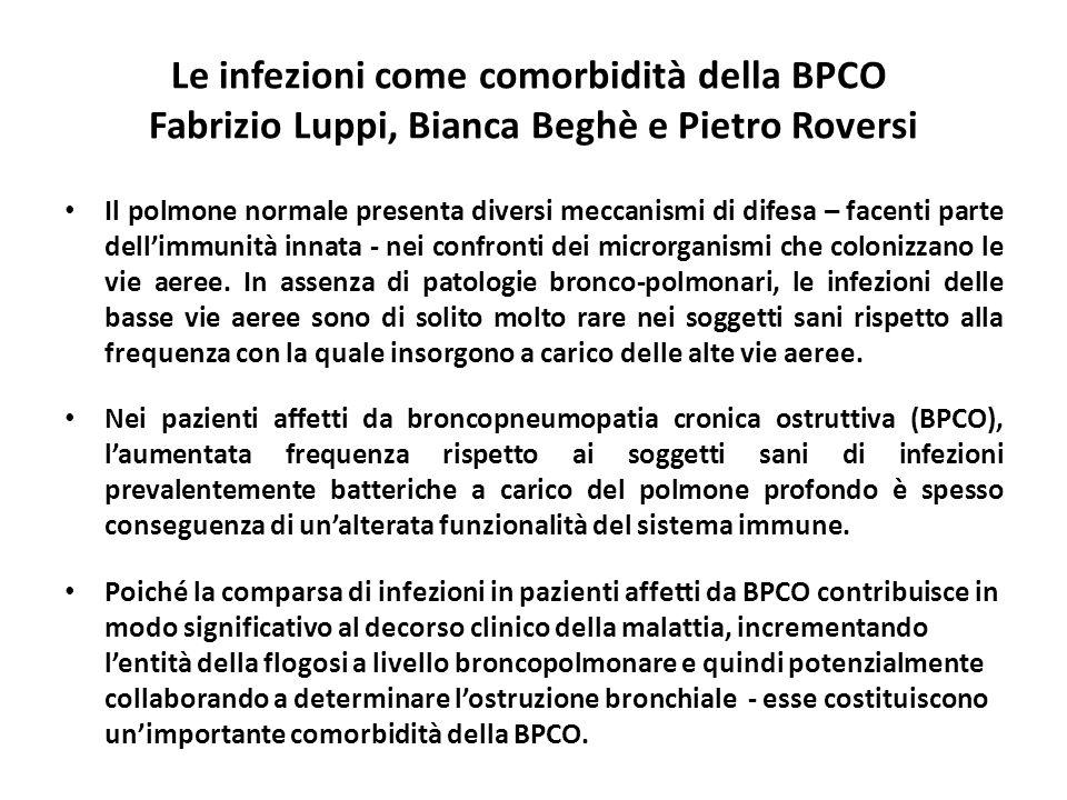 Le infezioni come comorbidità della BPCO Fabrizio Luppi, Bianca Beghè e Pietro Roversi Il polmone normale presenta diversi meccanismi di difesa – face