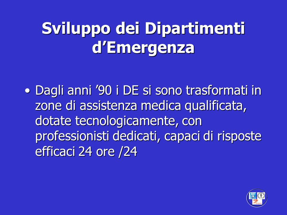 Emergency Department The Emergency Department is a melting pot of problems; many are medical, many are not.
