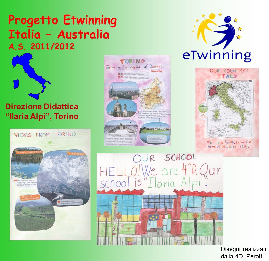 Progetto Etwinning Italia – Australia A.S. 2011/2012 Direzione Didattica Ilaria Alpi, Torino Disegni realizzati dalla 4D, Perotti