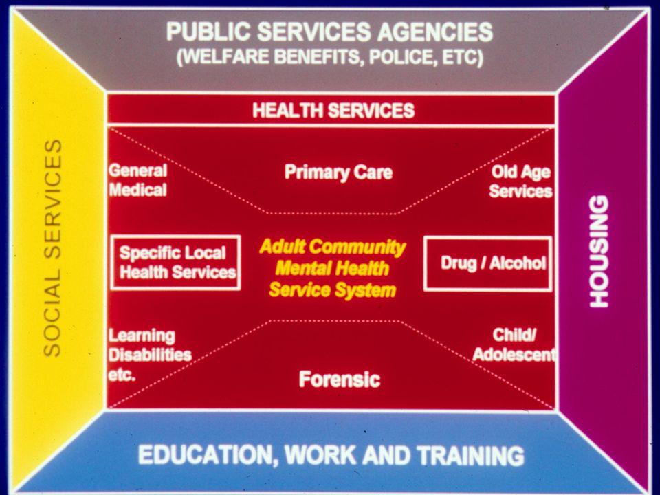 Buona organizzazione dei Servizi di salute mentale come pre-requisito per una assistenza ed una formazione di qualità.