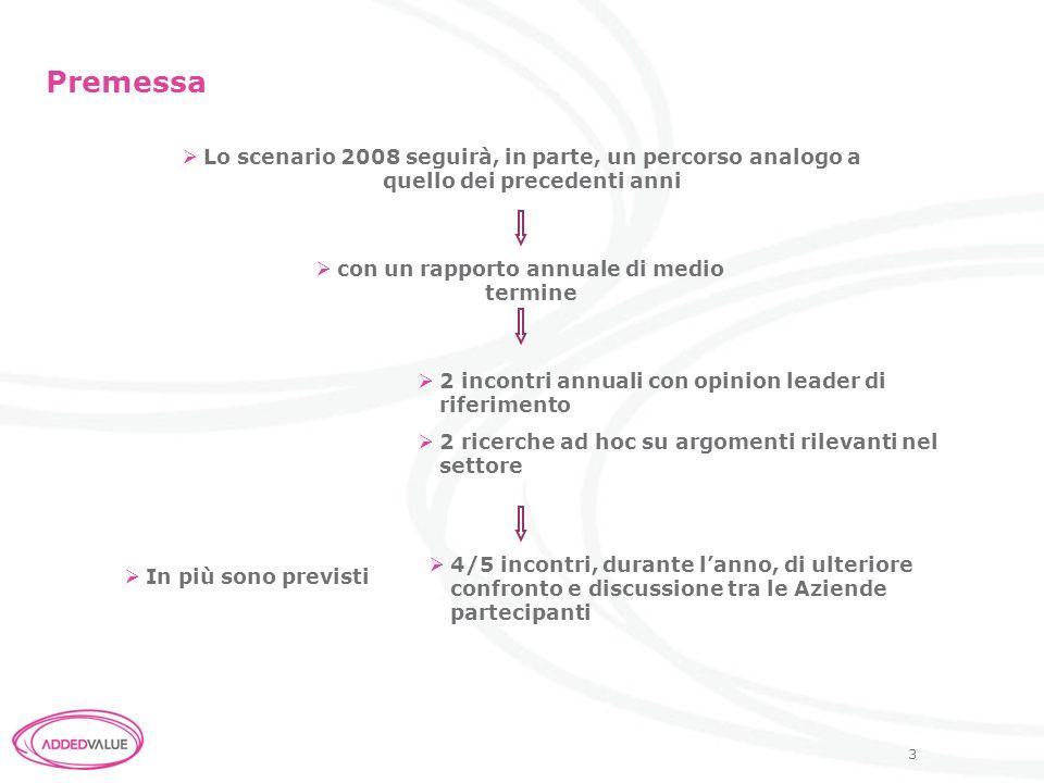 4 1- Lo scenario di medio termine Un rapporto annuale (in presentazione nel mese di marzo/aprile) contenente 1.Levoluzione nel medio termine (3-5 anni) del farmaco nella filiera della salute in Italia 2.I fattori chiave di successo per lazienda 3.I segnali deboli per il settore farmaceutico nel medio termine 4.Gli argomenti da approfondire con le successive ricerche ad hoc (key factors con probabile impatto sul business)