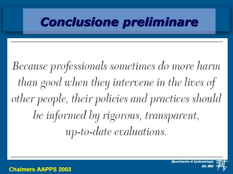 Chalmers AAPPS 2003 Conclusione preliminare