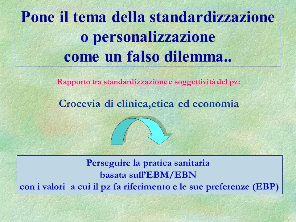Pone il tema della standardizzazione o personalizzazione come un falso dilemma..