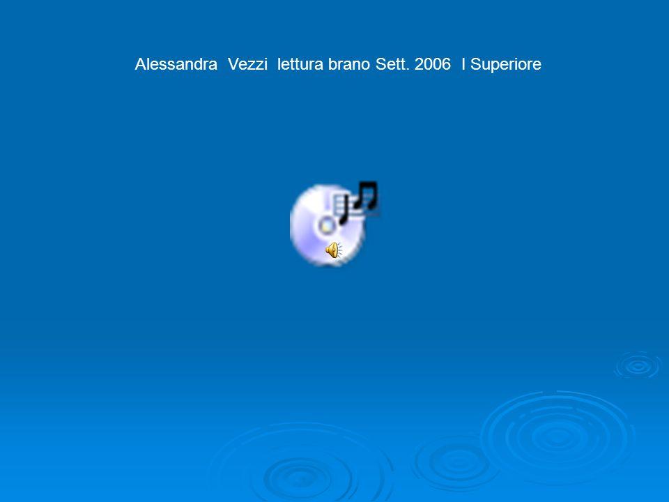 Alessandra V. Lista non parole Settembre 2006 I Superiore