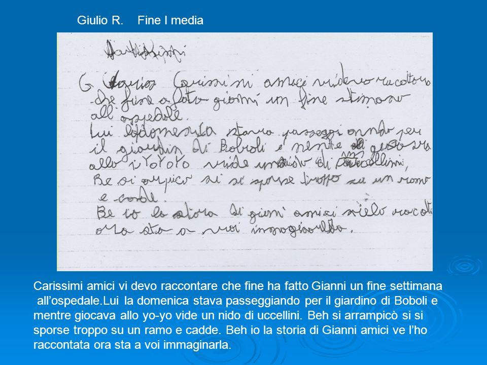 Giulio R. Fine I media Carissimi amici vi devo raccontare che fine ha fatto Gianni un fine settimana allospedale.Lui la domenica stava passeggiando pe
