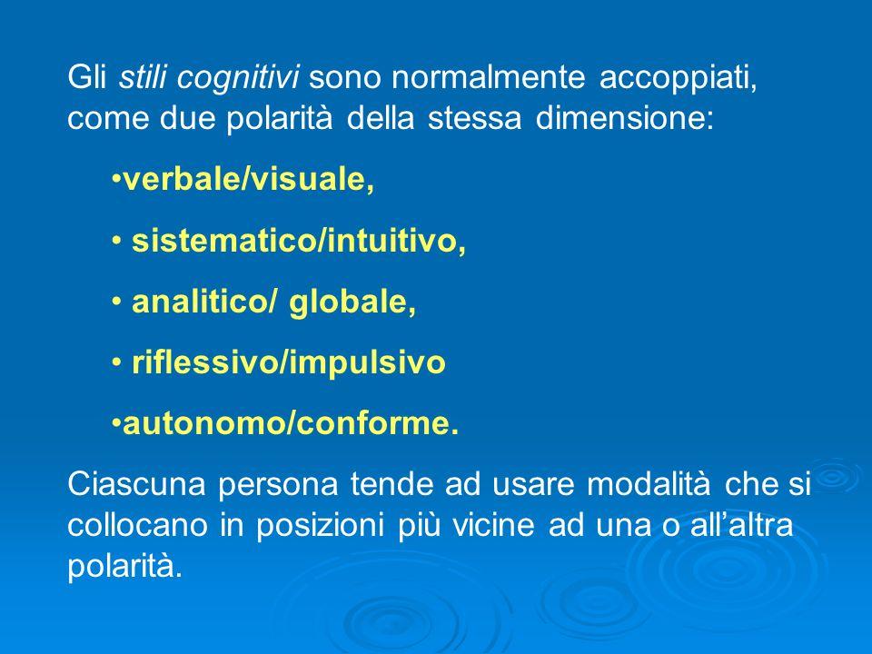 Ai 5 stili citati va aggiunto lo stile esplicativo, con le polarità ottimista/pessimista.